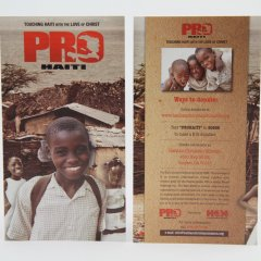Haiti Christian Mission Rack Cards