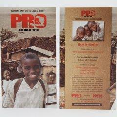 Haiti Christian Mission Rack Cards