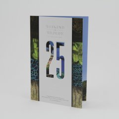 25th Anniversary Brochure for Weekend for Wildlife Event
