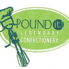 Pound It! Legendary Confectionery Logo Design
