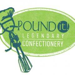 Pound It! Legendary Confectionery Logo Design